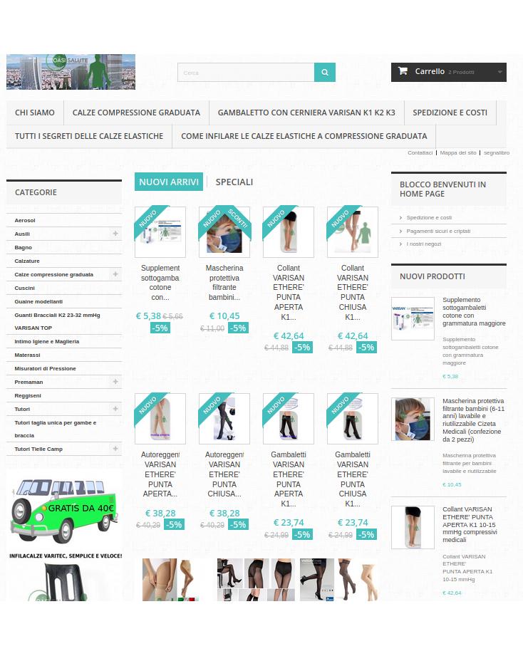 Acquista on line su oasisalute.com